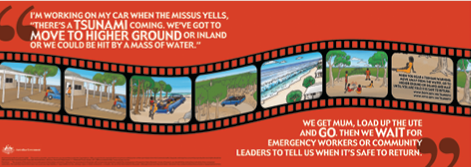 Tsunami educational poster