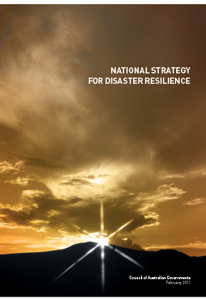 Cover of the National Strategy for Disaster Resilience