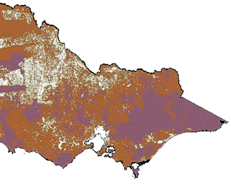 Map of Victoria showing bushfire prone areas