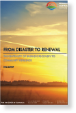 The cover of the report From disaster to renewal: the centrality of business recovery to community resilience. Final report.