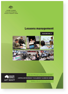 Cover of Australian Emergency Management Handbook 8, Lessons management