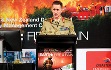 Major General Stuart Smith giving his presentation.
