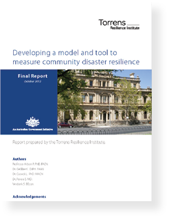 Torrens Resilience Institute Scorecard report cover