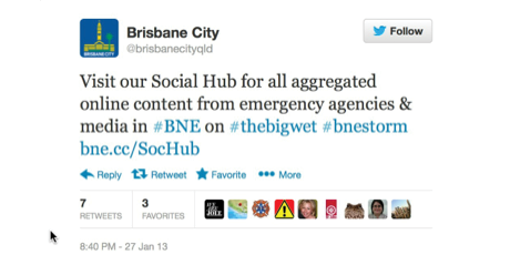 A screenshot of a Brisbane City Council tweet