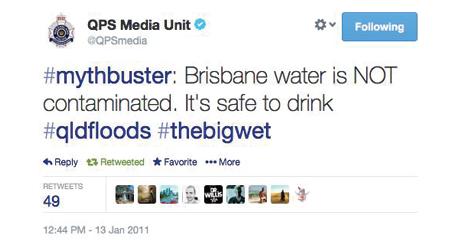 A screenshot of a QPS tweet