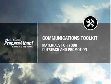 The cover of the PrepareAthon! communications toolkit booklet.
