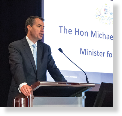 A photo of the Hon. Michael Keenan MP speaking at the Resilient Australia Awards ceremony.
