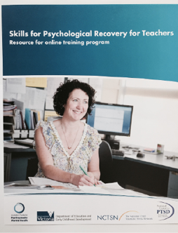 Cover of the report 'Skills for Pschological Recovery for Teachers'