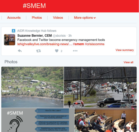 Screenshot of #SMEM Twitter feed