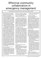 Thumbnail of Effective community collaboration in emergency ...