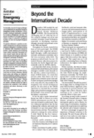 Thumbnail of Editorial: Beyond the international decade