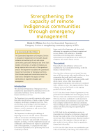 Thumbnail of Strengthening the capacity of remote Indigenous...