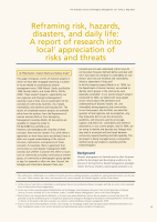 Thumbnail of Reframing risk, hazards, disasters, and daily l...