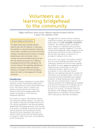 Thumbnail of Volunteers as a learning bridgehead to the comm...