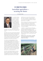 Thumbnail of FOREWORD: Australian agriculture—securing the...
