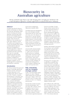 Thumbnail of Biosecurity in Australian agriculture