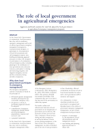 Thumbnail of The role of local government in agricultural em...