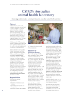 Thumbnail of CSIRO's Australian animal health laboratory