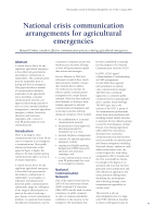 Thumbnail of National crisis communication arrangements for ...