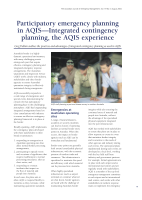 Thumbnail of Participatory emergency planning in AQIS—Inte...