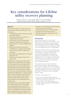 Thumbnail of Key considerations for Lifeline utility recover...