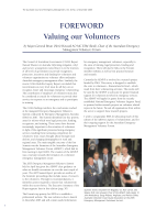 Thumbnail of FOREWORD: Valuing our Volunteers
