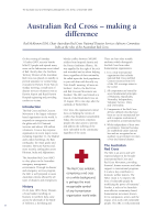 Thumbnail of Australian Red Cross – making a difference