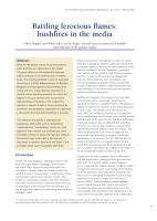 Thumbnail of Battling ferocious flames: bushfires in the media