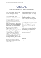 Thumbnail of FOREWORD: National Emergency Management Plan a ...