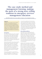 Thumbnail of The case study method and management learning: ...