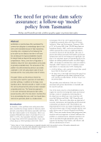 Thumbnail of The need for private dam safety assurance: a fo...