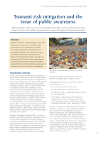 Thumbnail of Tsunami risk mitigation and the issue of public...