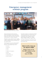 Thumbnail of Emergency management seminar program