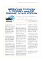 Thumbnail of International Association of Emergency Managers...