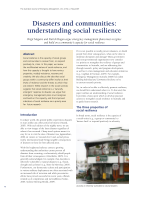Thumbnail of Disasters and communities: understanding social...