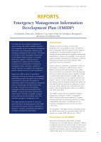 Thumbnail of REPORTS: Emergency Management Information Devel...