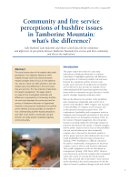 Thumbnail of Community and fire service perceptions of bushf...