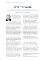 Bigger Thumbnail of AJEM FOREWORD: Communicatio...