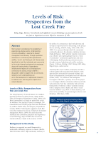 Thumbnail of Levels of Risk: Perspectives from the Lost Cree...