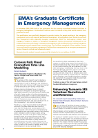 Thumbnail of EMA's Graduate Certificate in Emergency Manag...