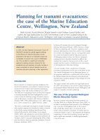 Thumbnail of Planning for tsunami evacuations: the case of t...