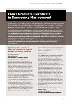 Thumbnail of EMA's Graduate Certificate in Emergency Management