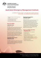 Thumbnail of Australian Emergency Manage...
