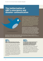 Thumbnail of The twitterisation of ABC's emergency and disas...