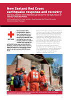Thumbnail of New Zealand Red Cross earthquake response and r...