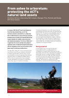 Thumbnail of From ashes to arboretum: protecting the ACT's n...