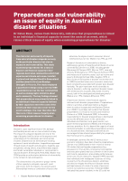 Thumbnail of Preparedness and vulnerability: an issue of equ...