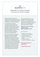 Thumbnail of Bushfire CRC, Research to drive change