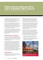Thumbnail of Online forums showcase three years of Bushfire ...