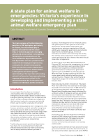 Thumbnail of A state plan for animal wel...